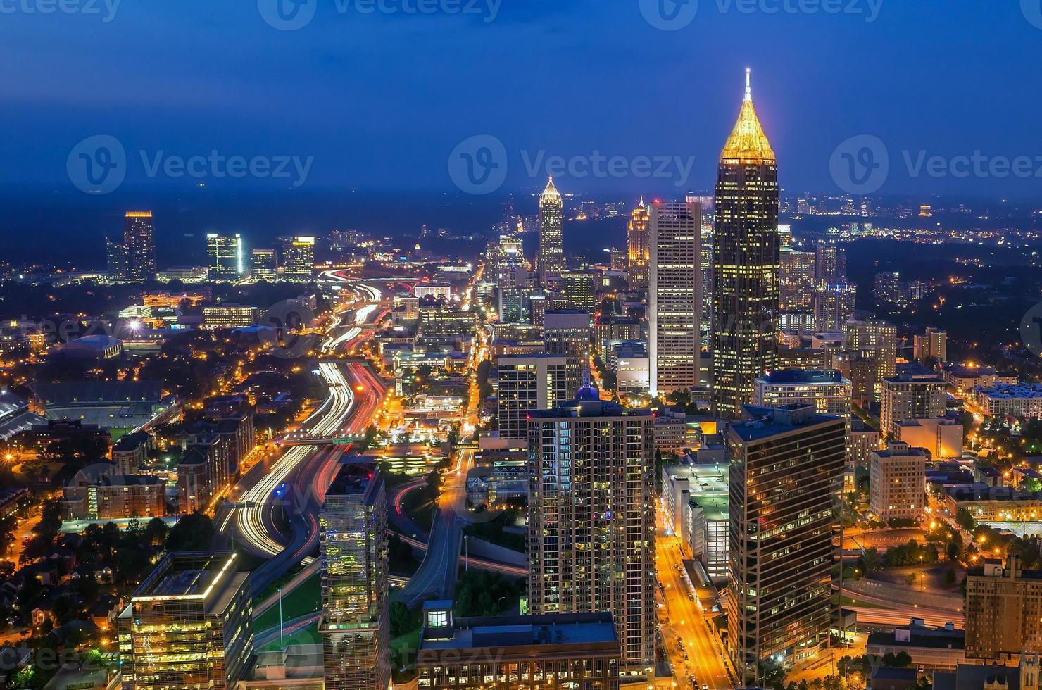 Skyline der Innenstadt von Atlanta, Georgia foto