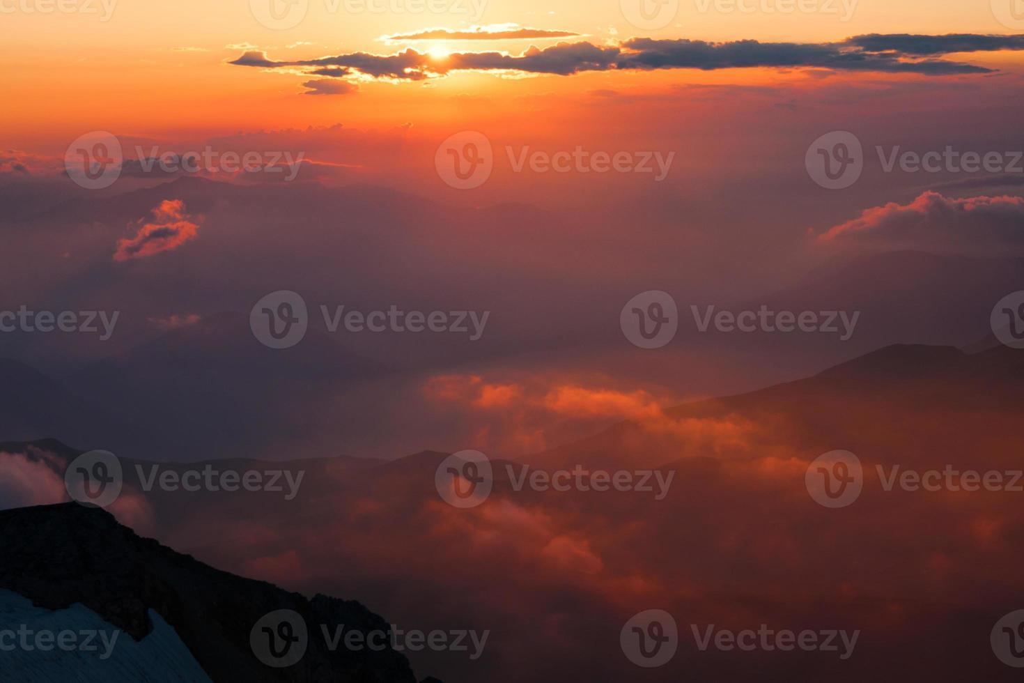 Berg Sonnenuntergang Sommer foto