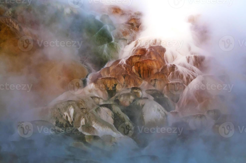 Geysir im Winter foto
