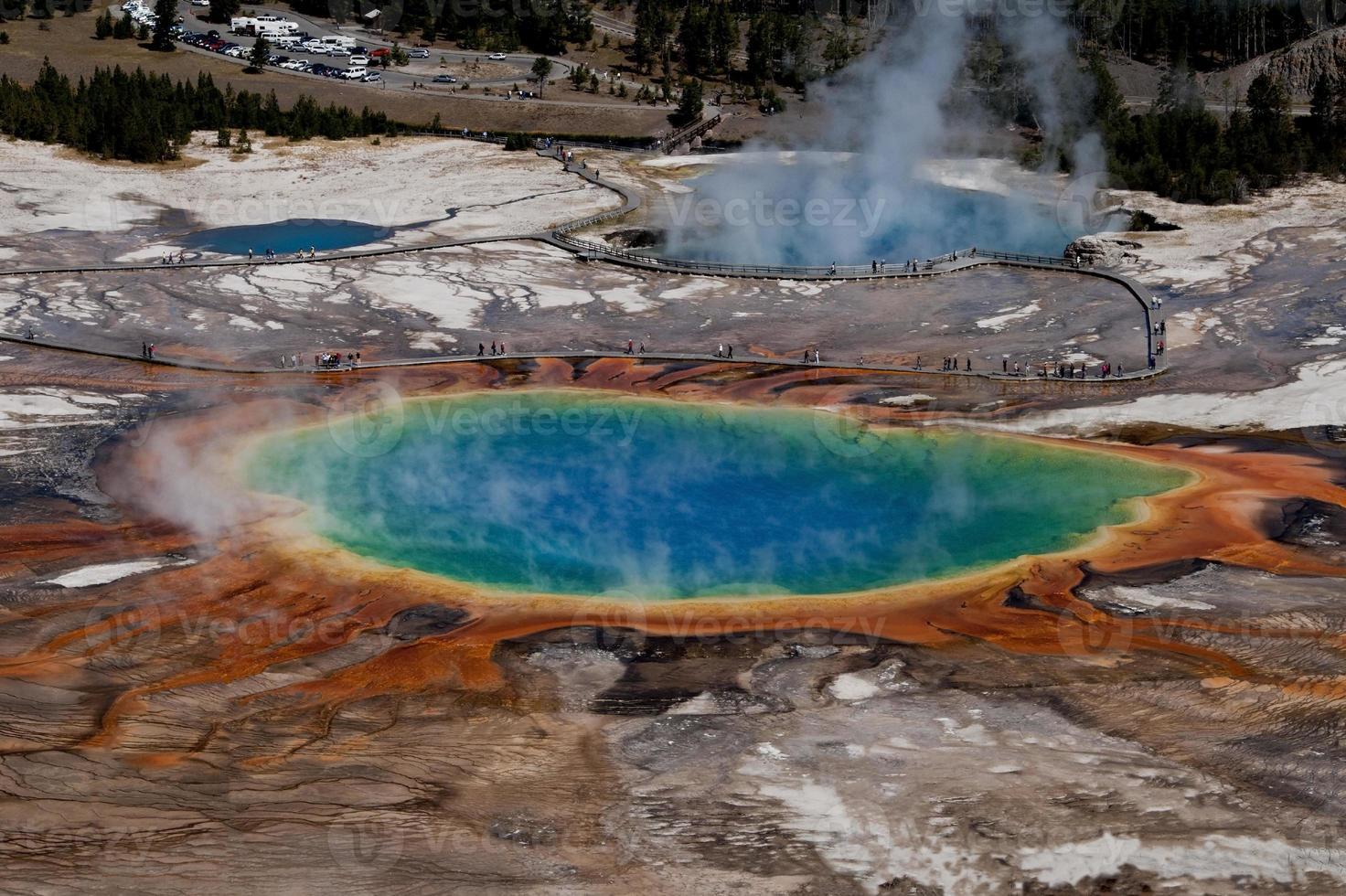 Grand Prismatic Spring, Yellowstone Nationalpark foto