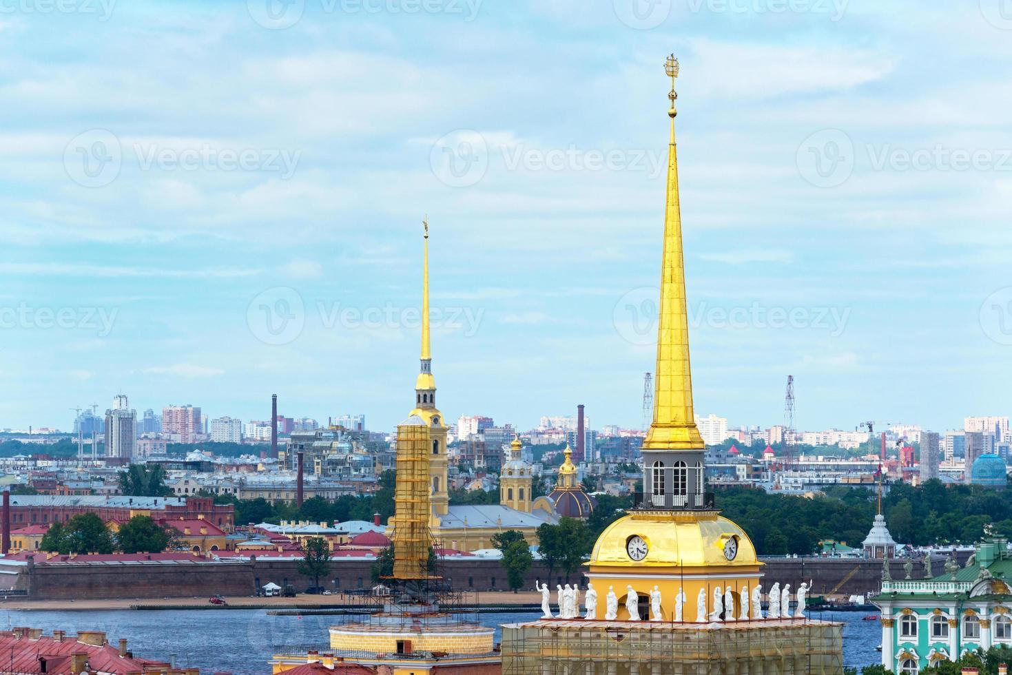 Ansicht des Heiligen Petersburg, Russland foto