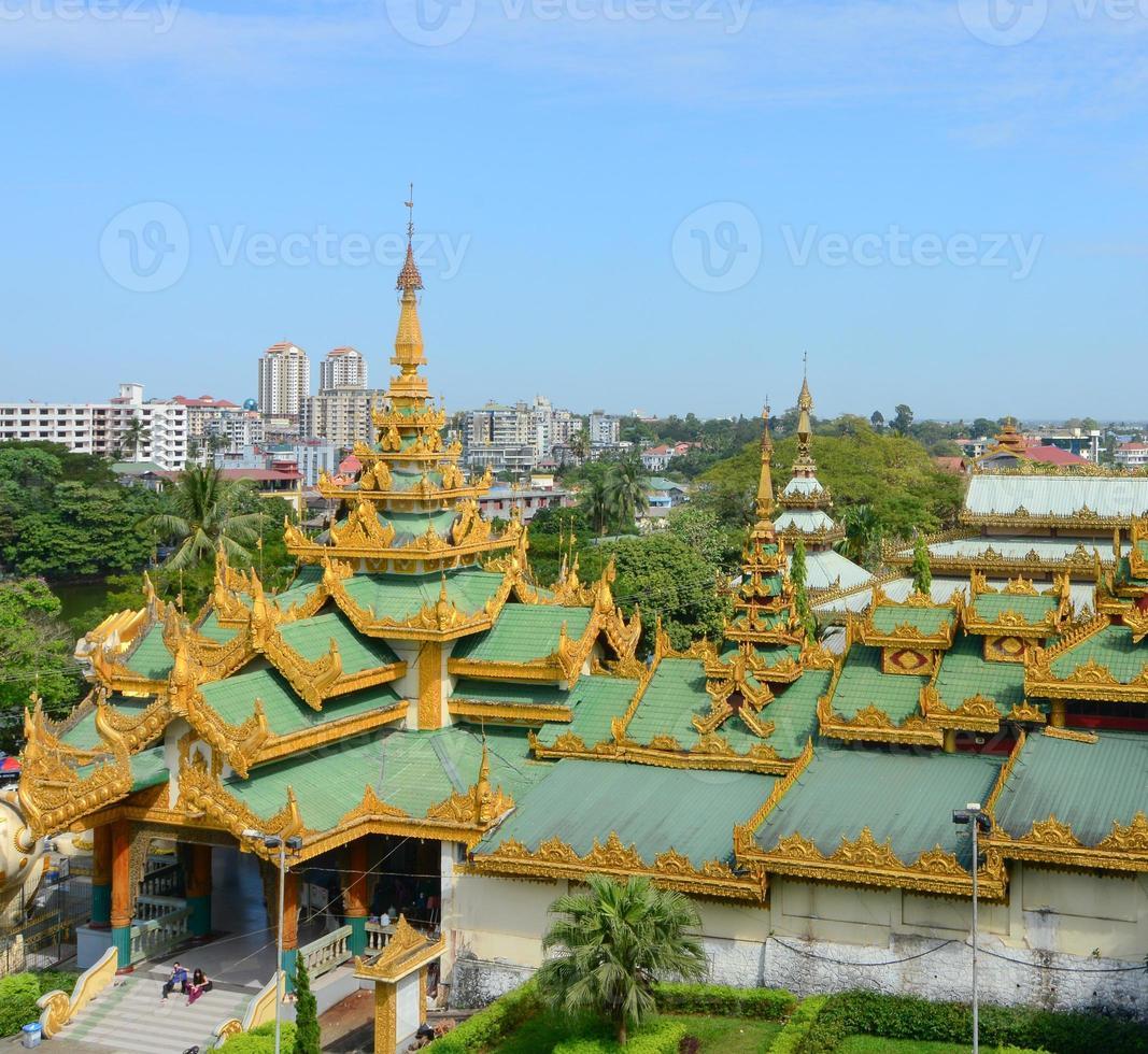 Shwedagon Paya Pagode, Yangon, Myanmar foto