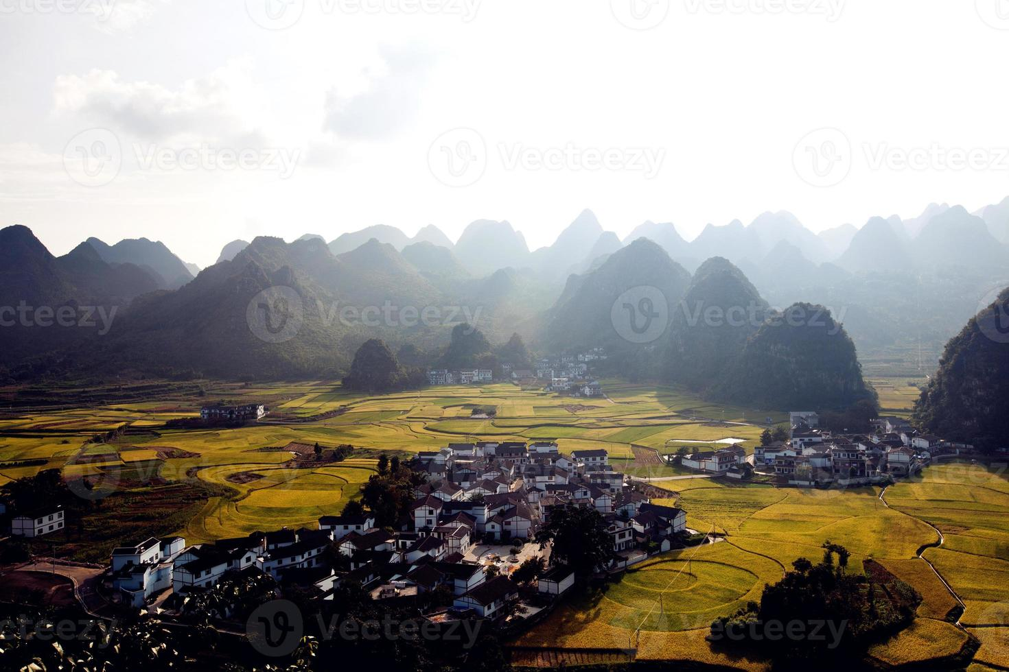 Landschaft in China foto