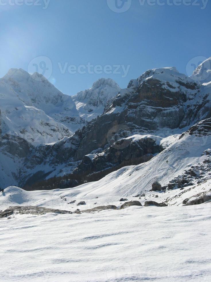 Schnee Berglandschaft foto