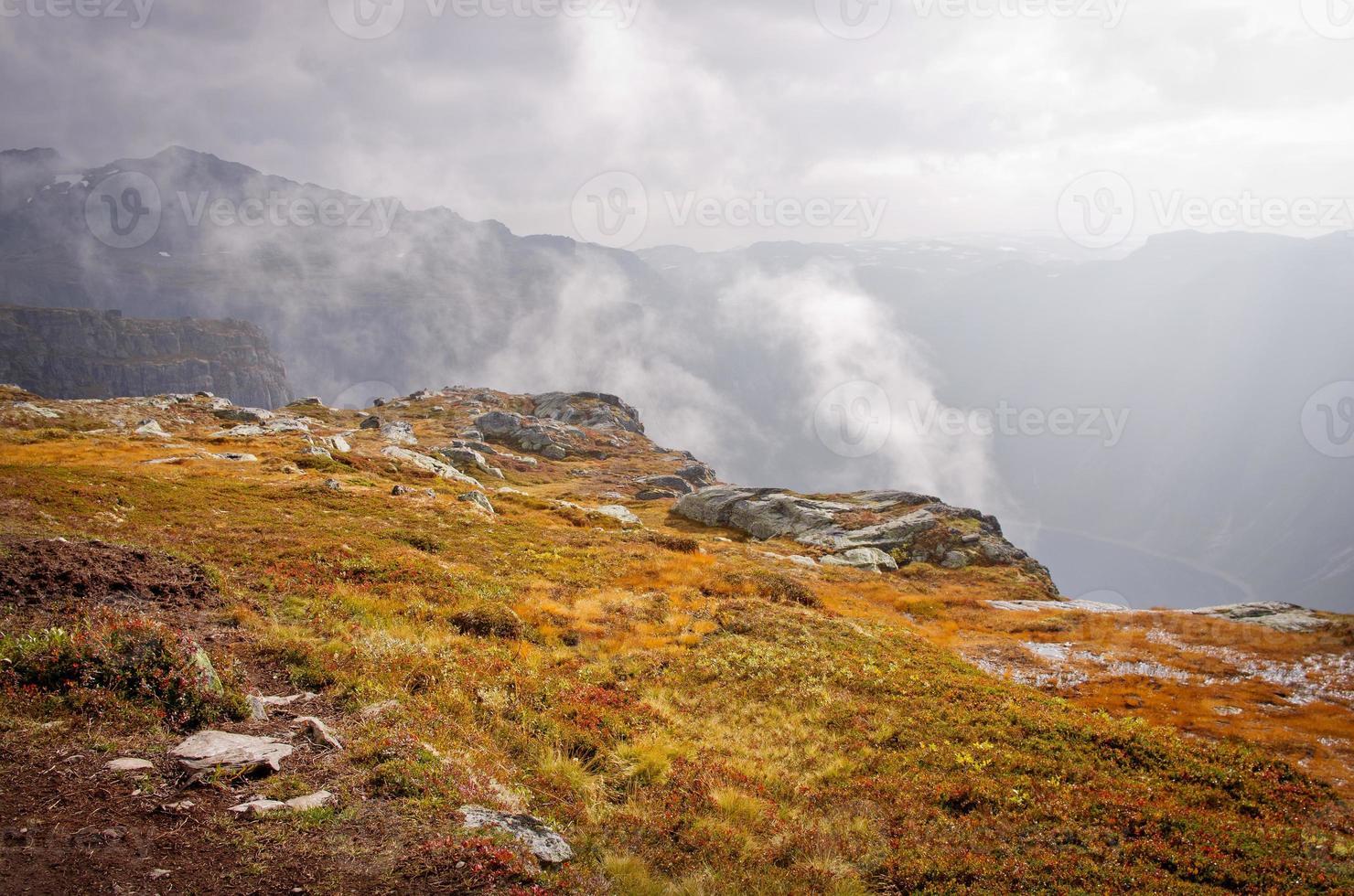 Landschaften in Bergen. Norwegen foto