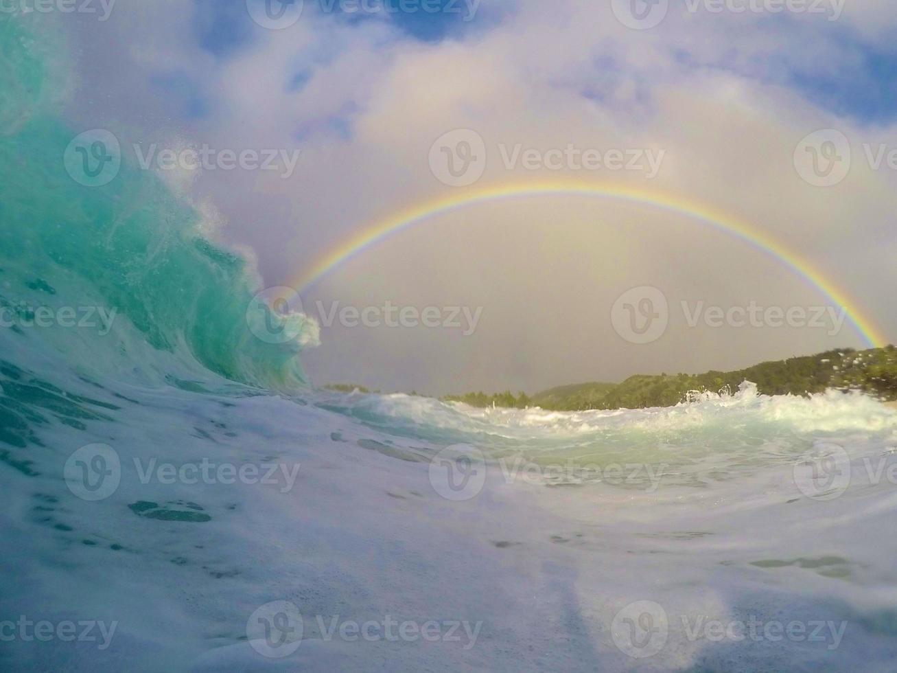 Paradies in einer Welle foto