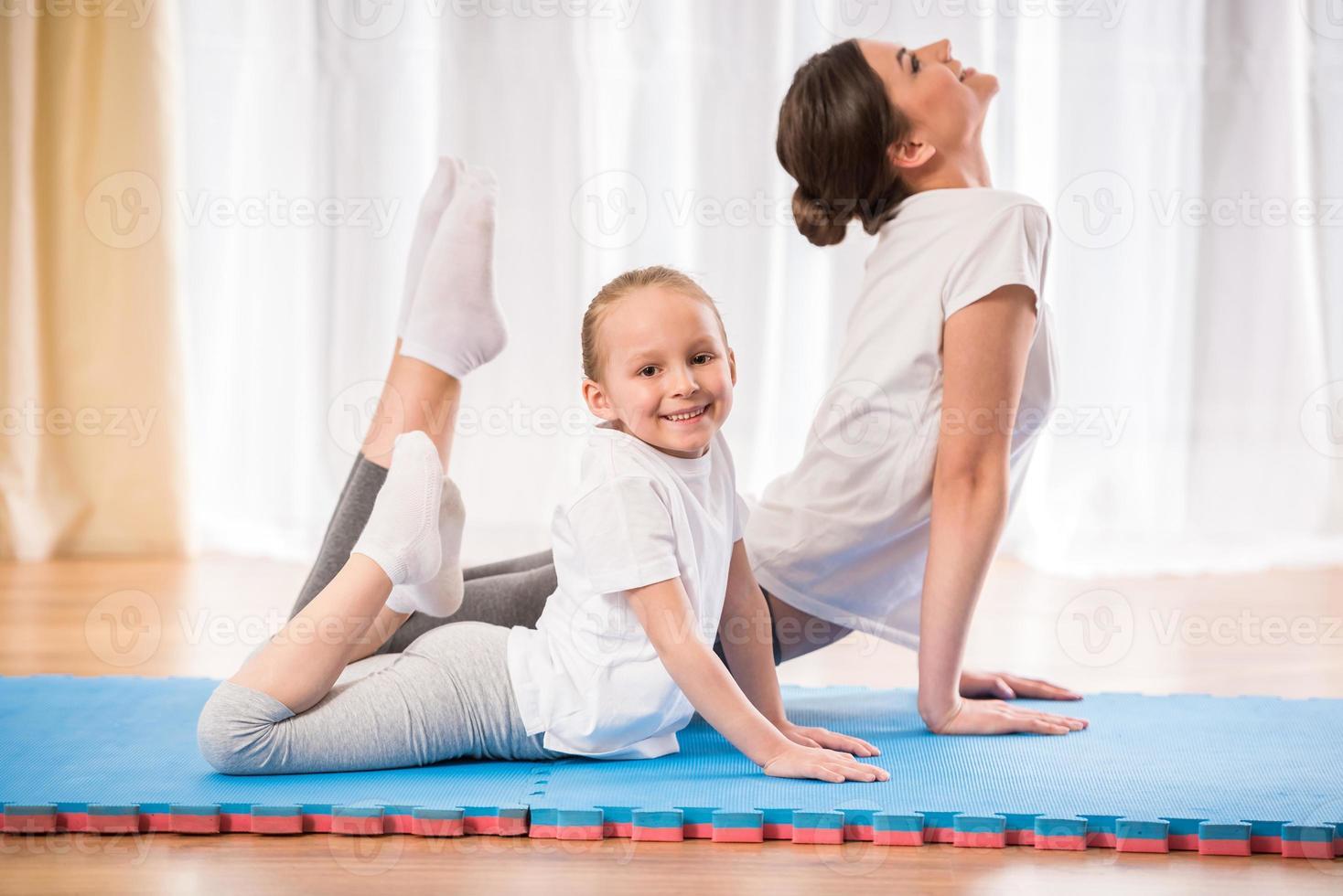 Yoga zu Hause foto