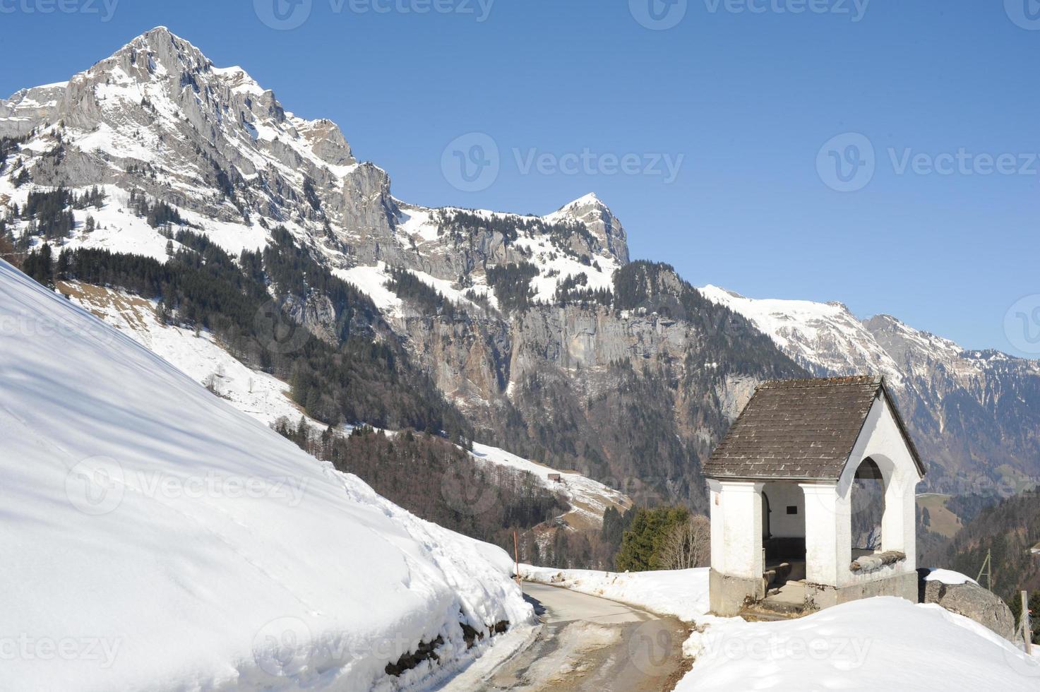 Winterlandschaft von Engelberg foto