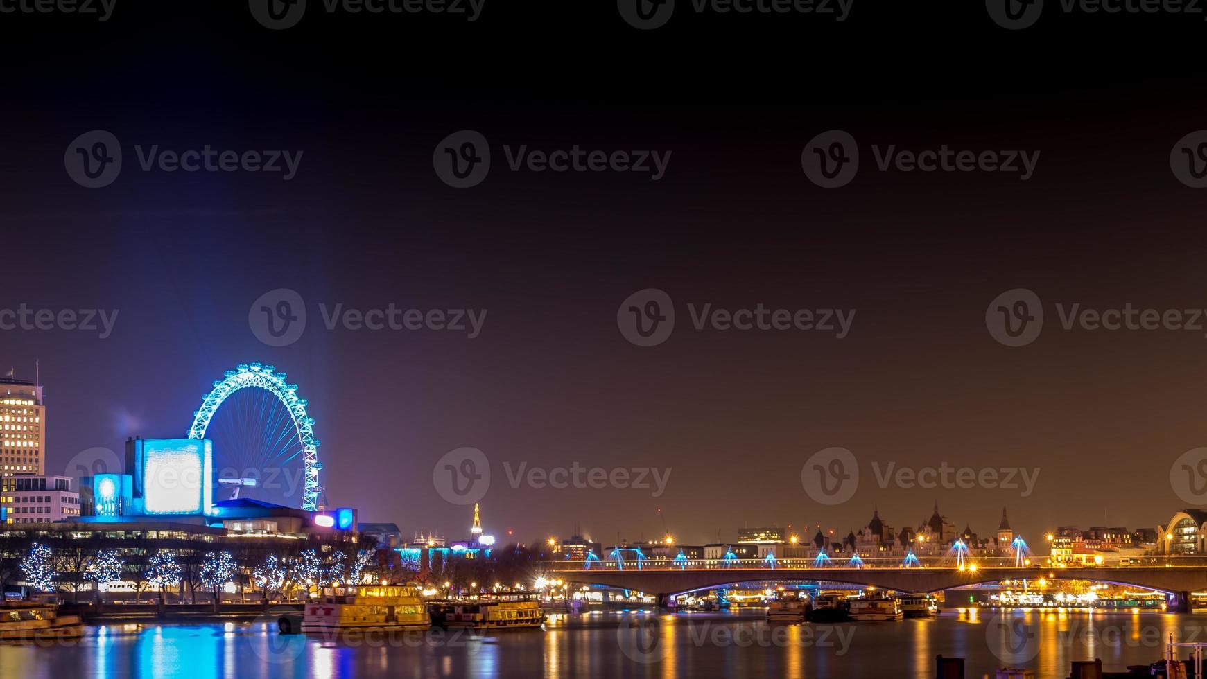 London Eye Landscape Night foto