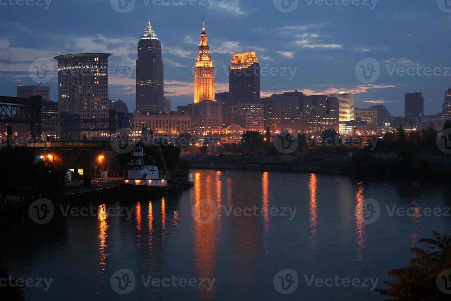 am frühen Morgen Cleveland Skyline foto