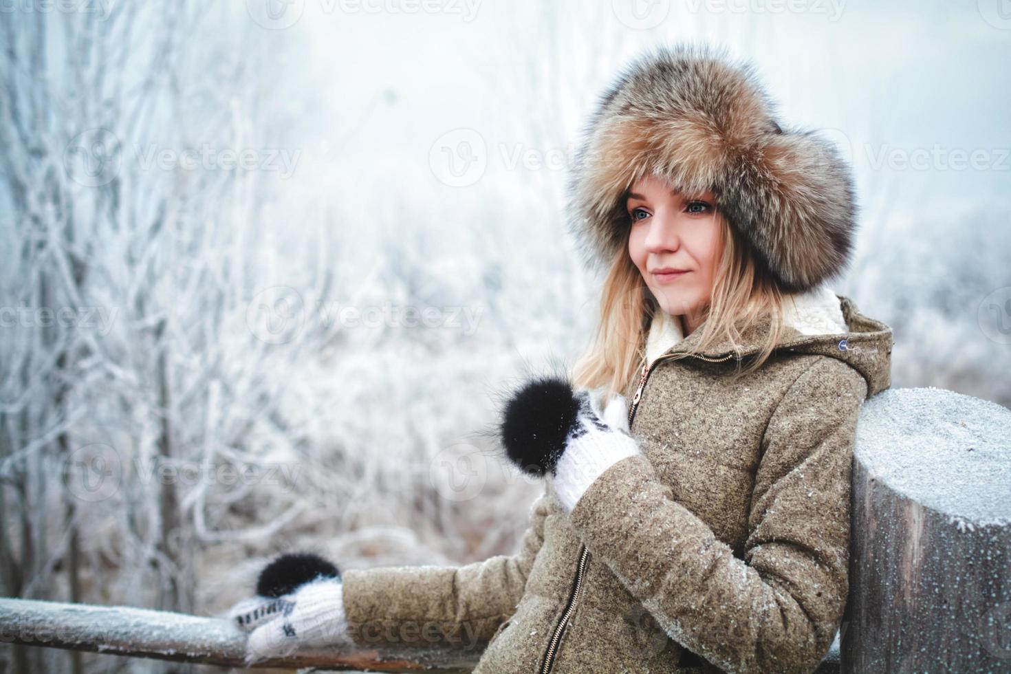 Mädchen im Winter foto
