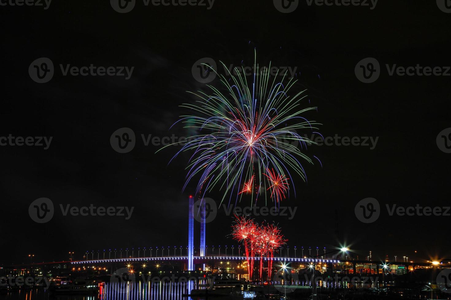 Docklands Winterfeuerwerk foto