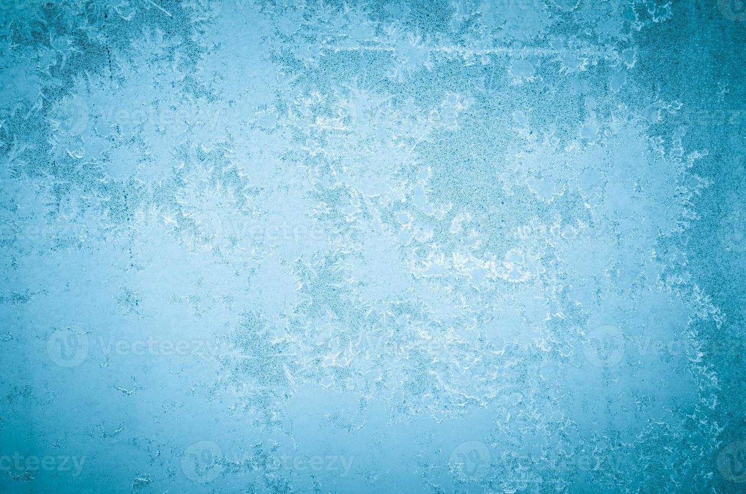 Winter abstrakte Frostmuster foto