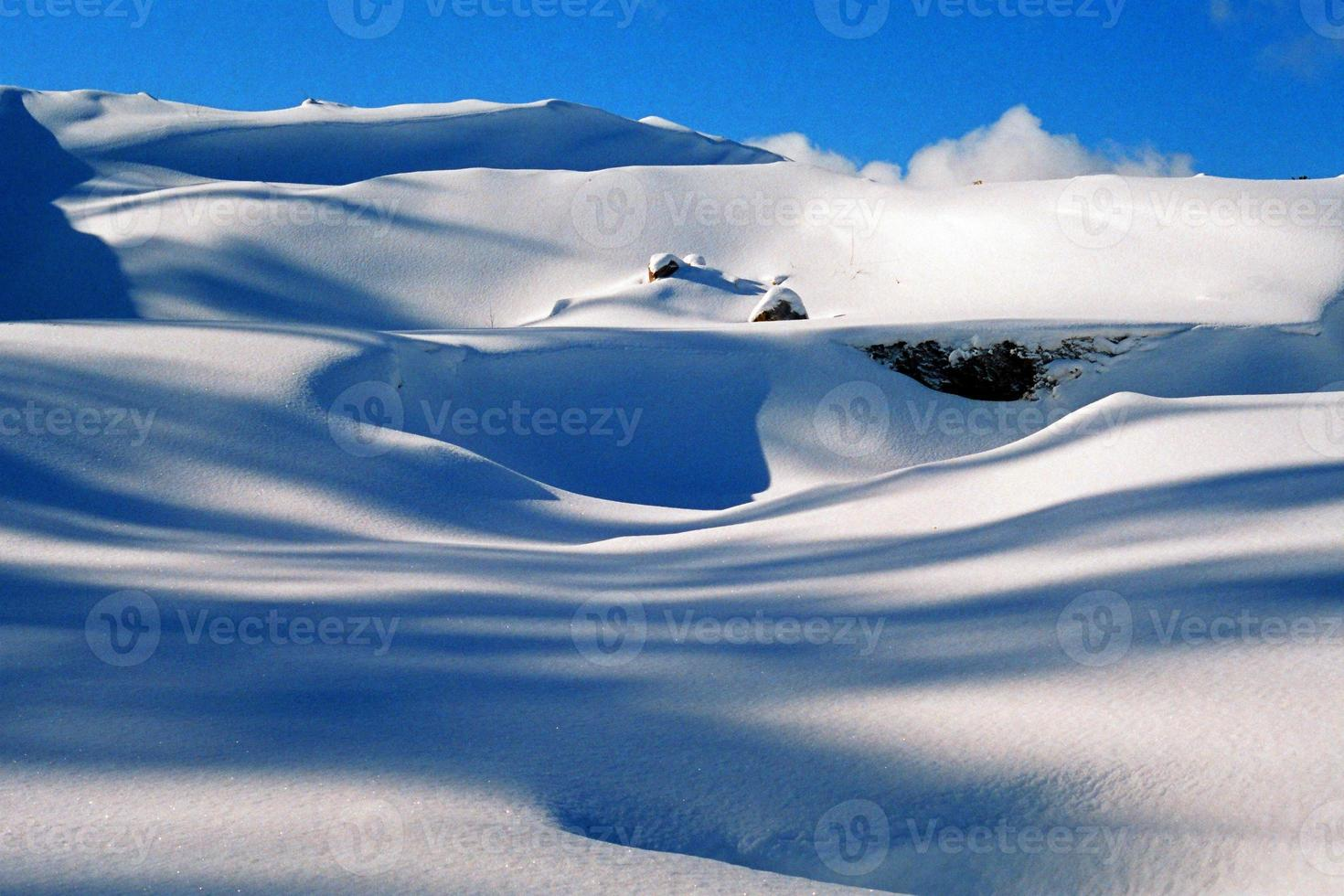 Winter, Schneeverwehungen, Hintergrund foto
