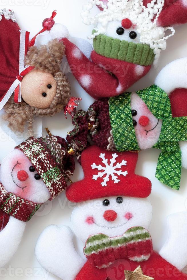 Weihnachtsmann und Freunde. lustige Komposition. foto