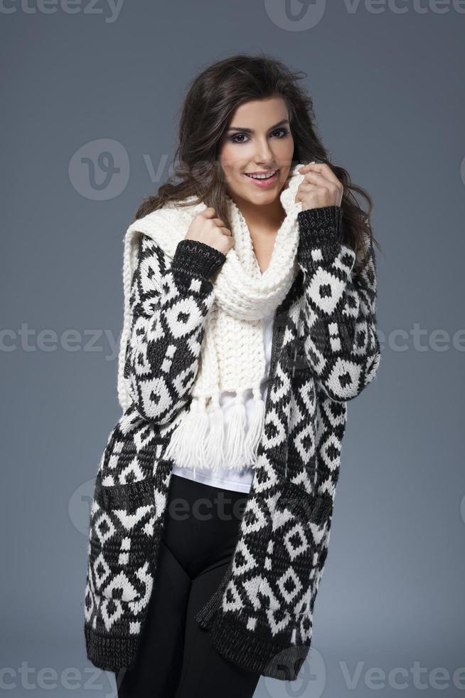 weiche Kleidung für die Wintersaison foto