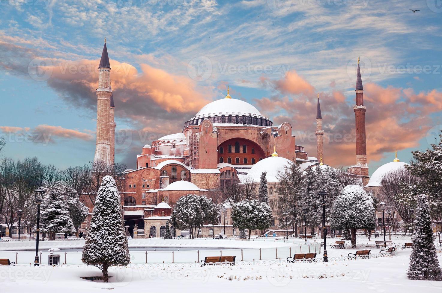 Hagia Sophia im Winter foto