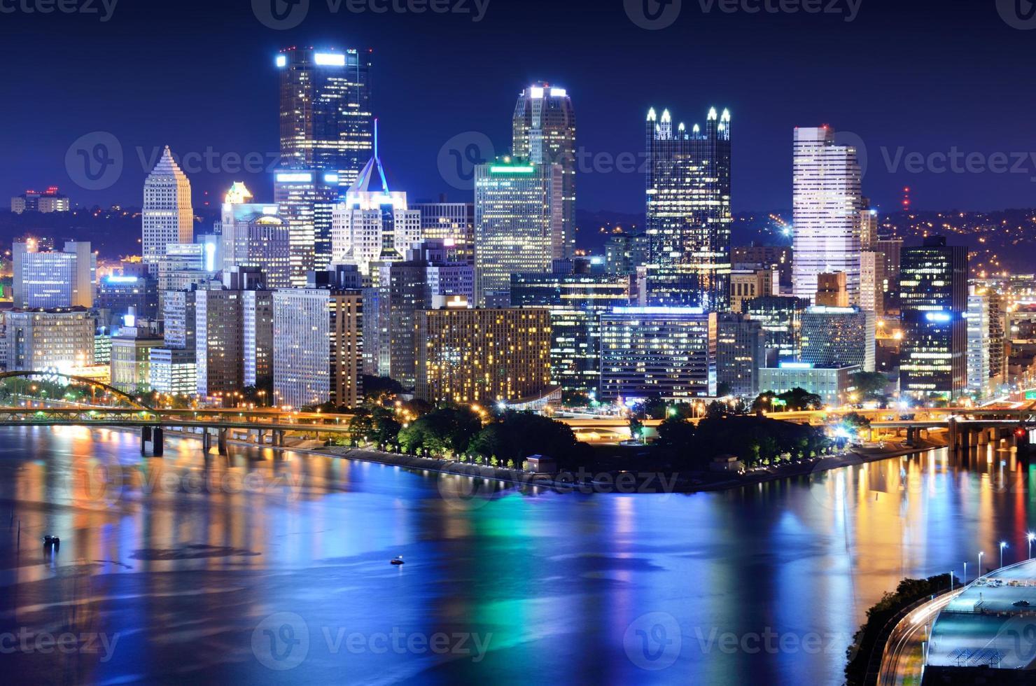 Innenstadt von Pittsburgh Skyline foto