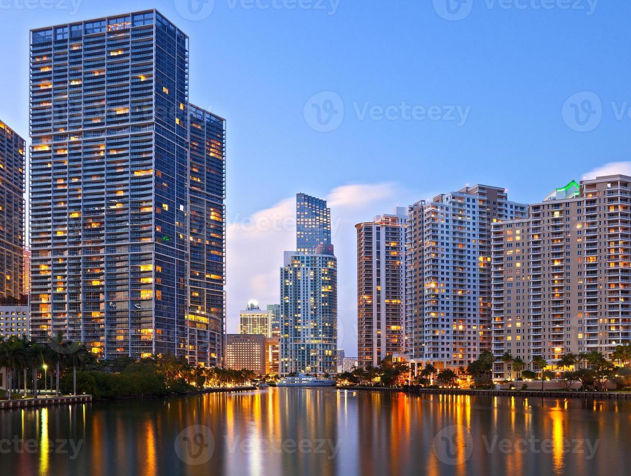 Miami Florida bei Sonnenuntergang foto