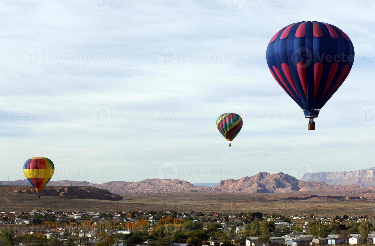 Heißluftballonrennen foto