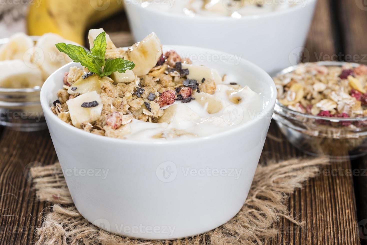Bananenjoghurt foto