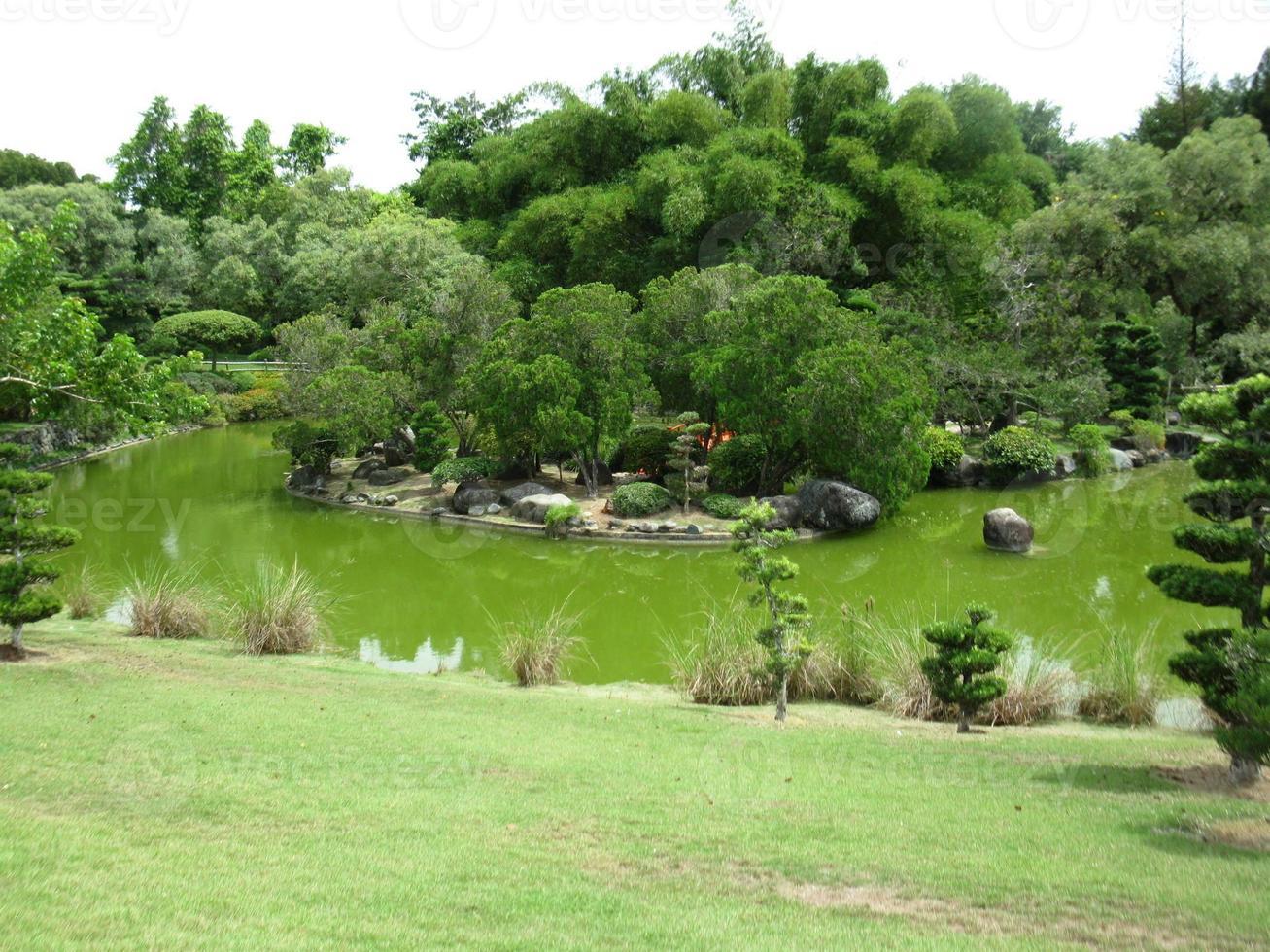 Lago, Jardin Botanico, Santo Domingo. foto