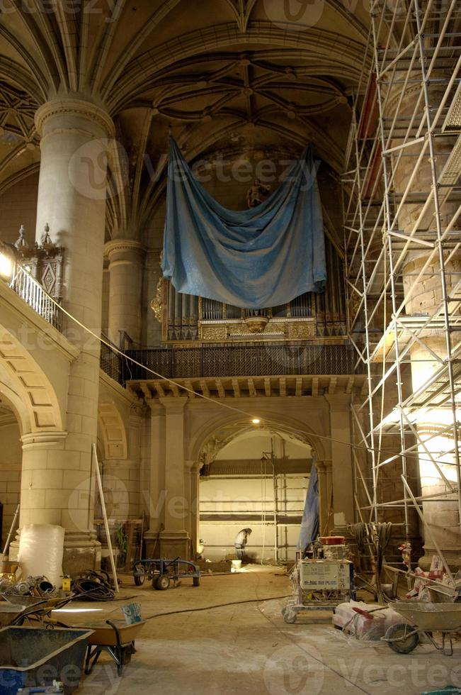 iglesia de santo domingo, arnedo, la rioja, spanien foto