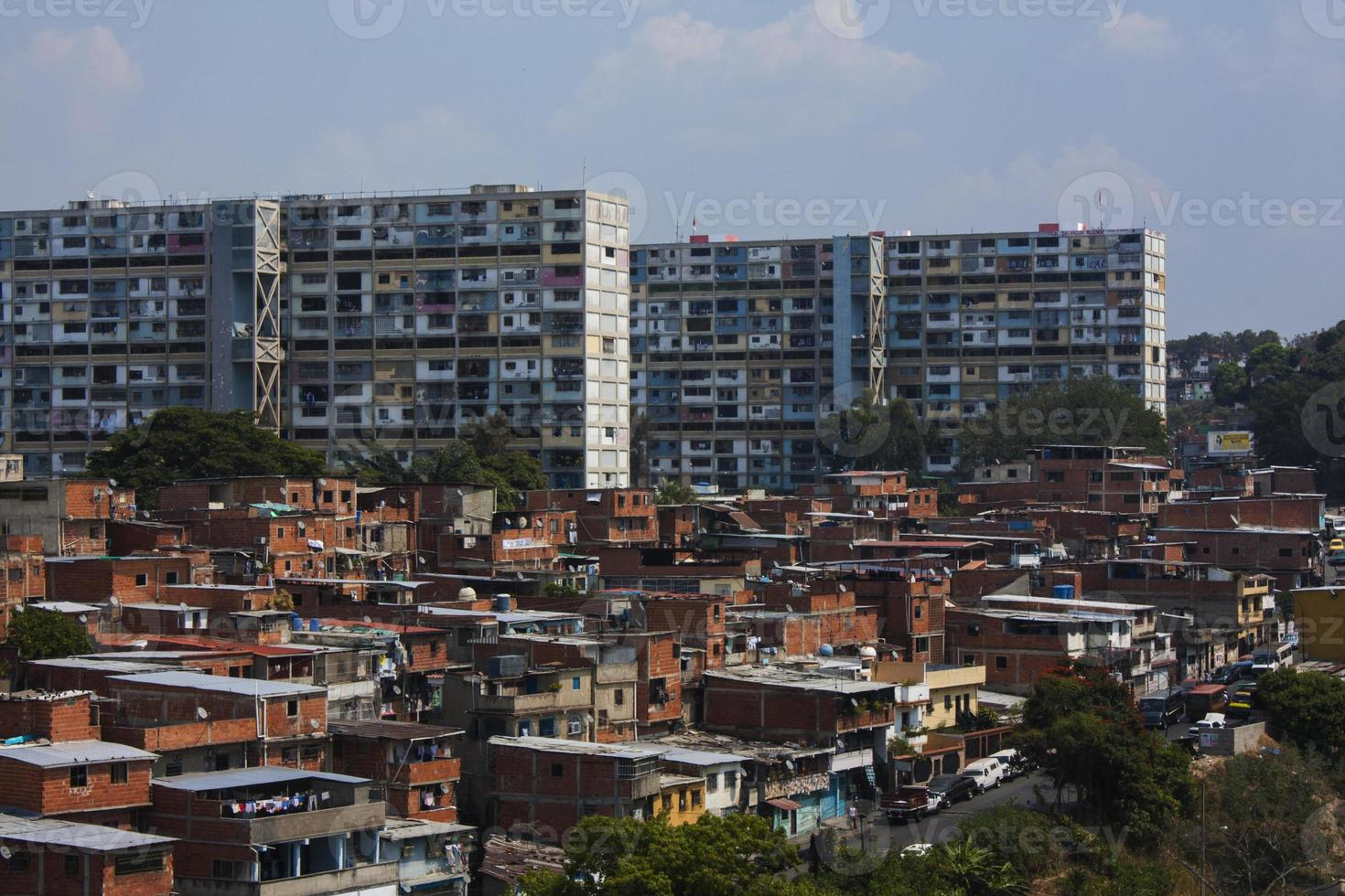 berühmtes Barrio in Caracas, Venezuela foto