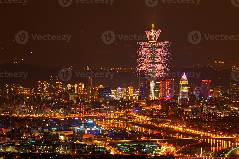 großes Feuerwerk foto