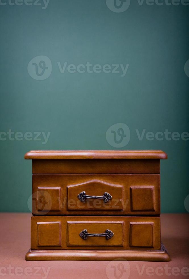 Holzschatulle für Schmuck foto