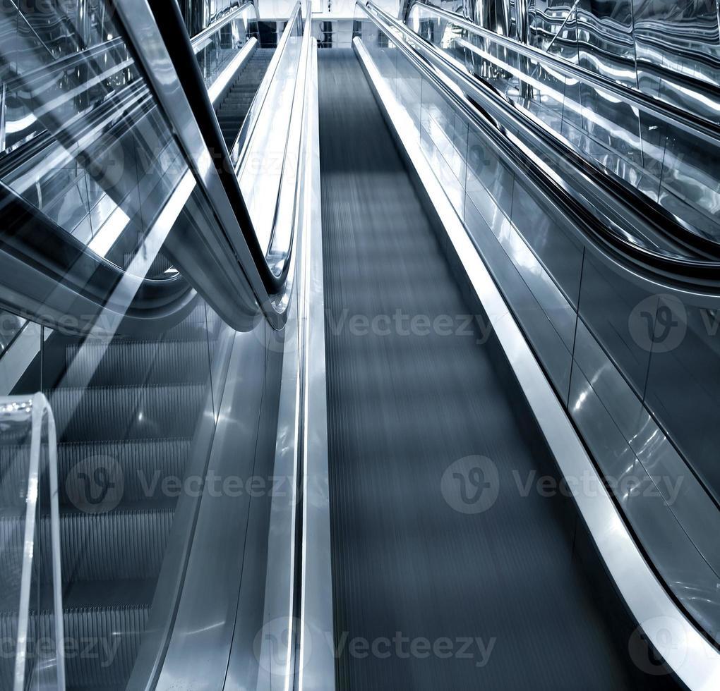 Bewegung der Rolltreppe foto