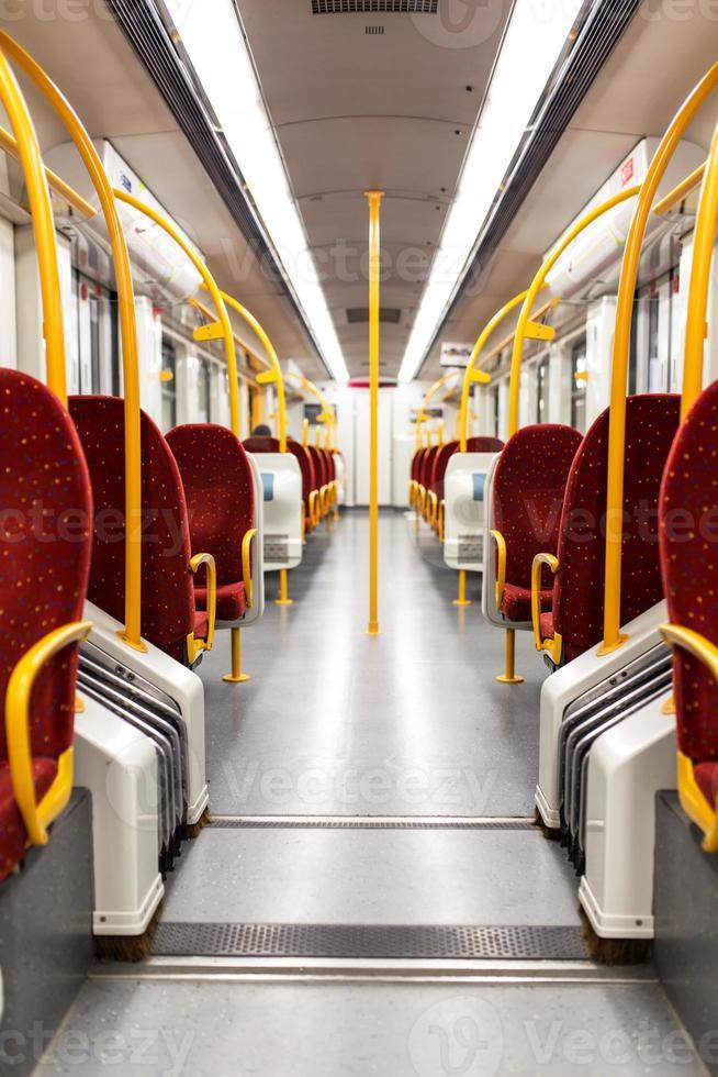 U-Bahn-Innenraum foto