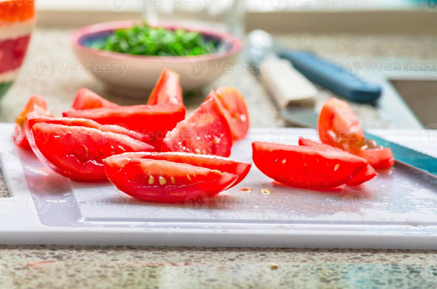 Tomatenstücke foto