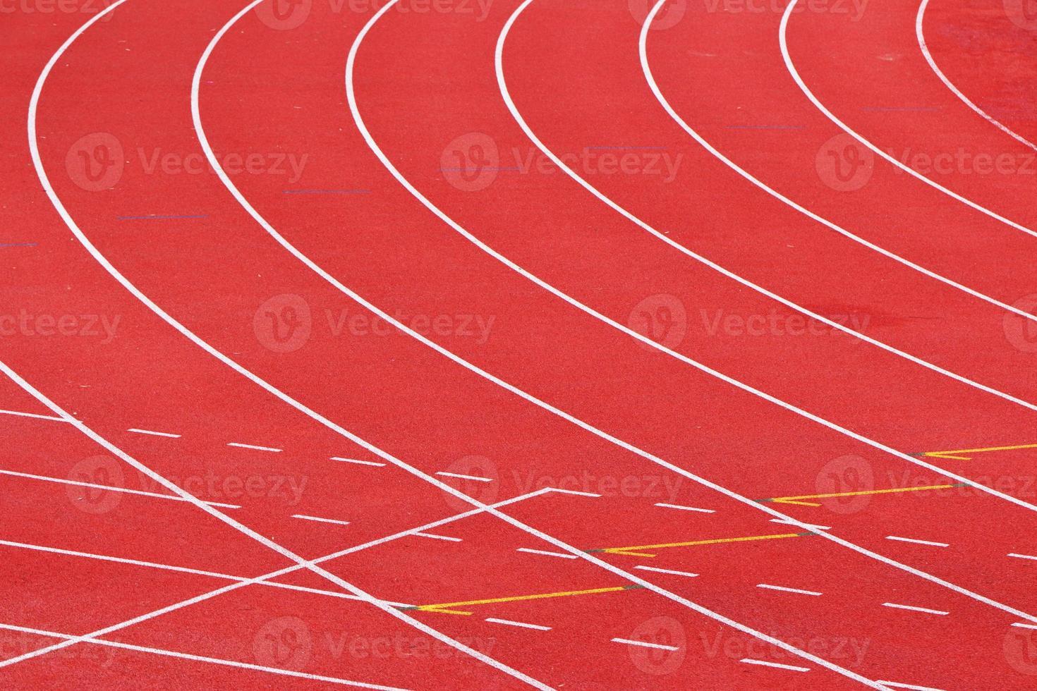 Strecke für den Sport foto