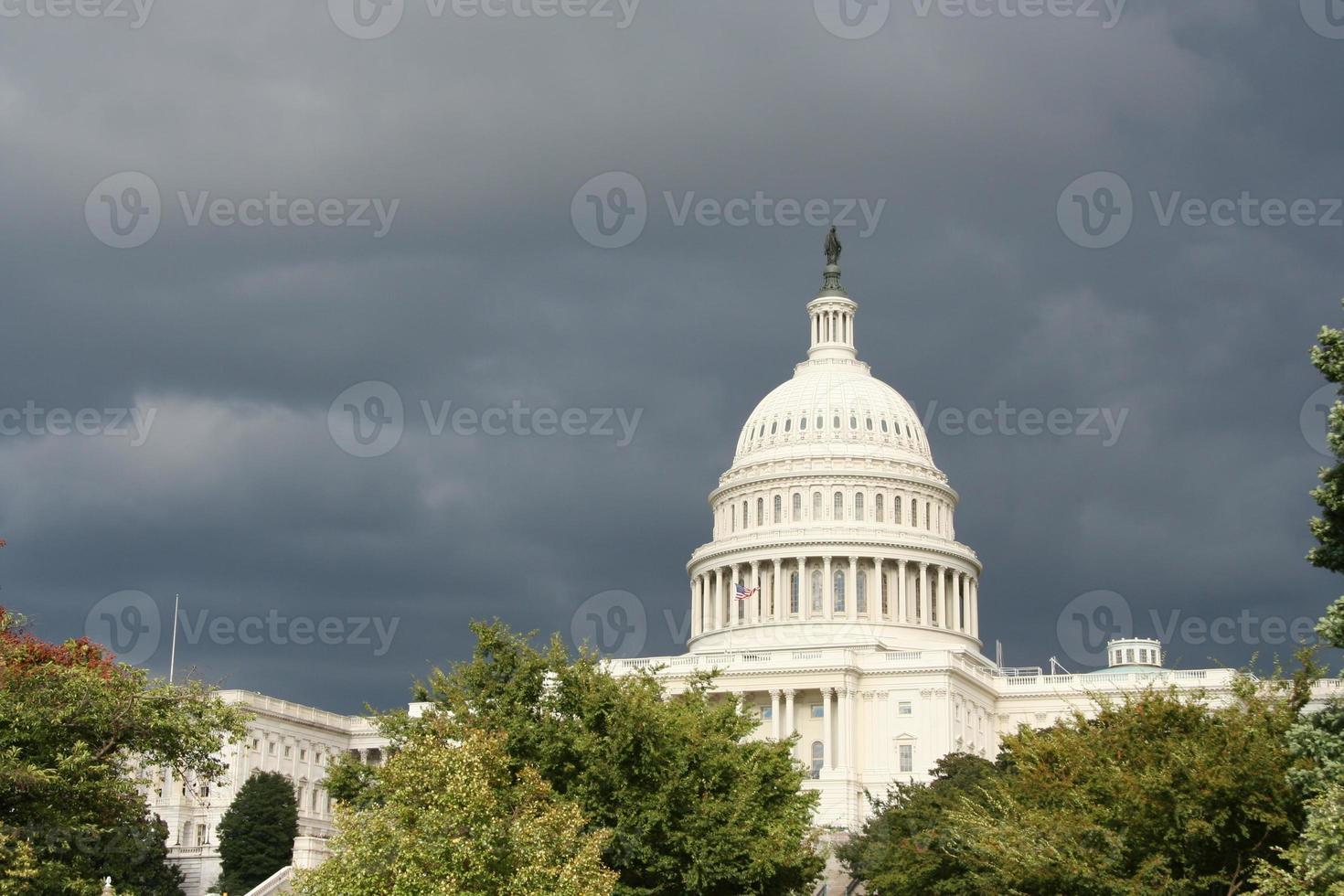 dunkler Sturm über Washington foto