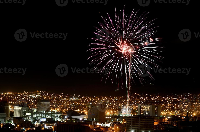 Feuerwerk über El Paso, Texas foto