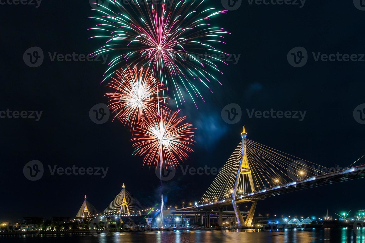 Es lebe das Feuerwerk des Königs foto