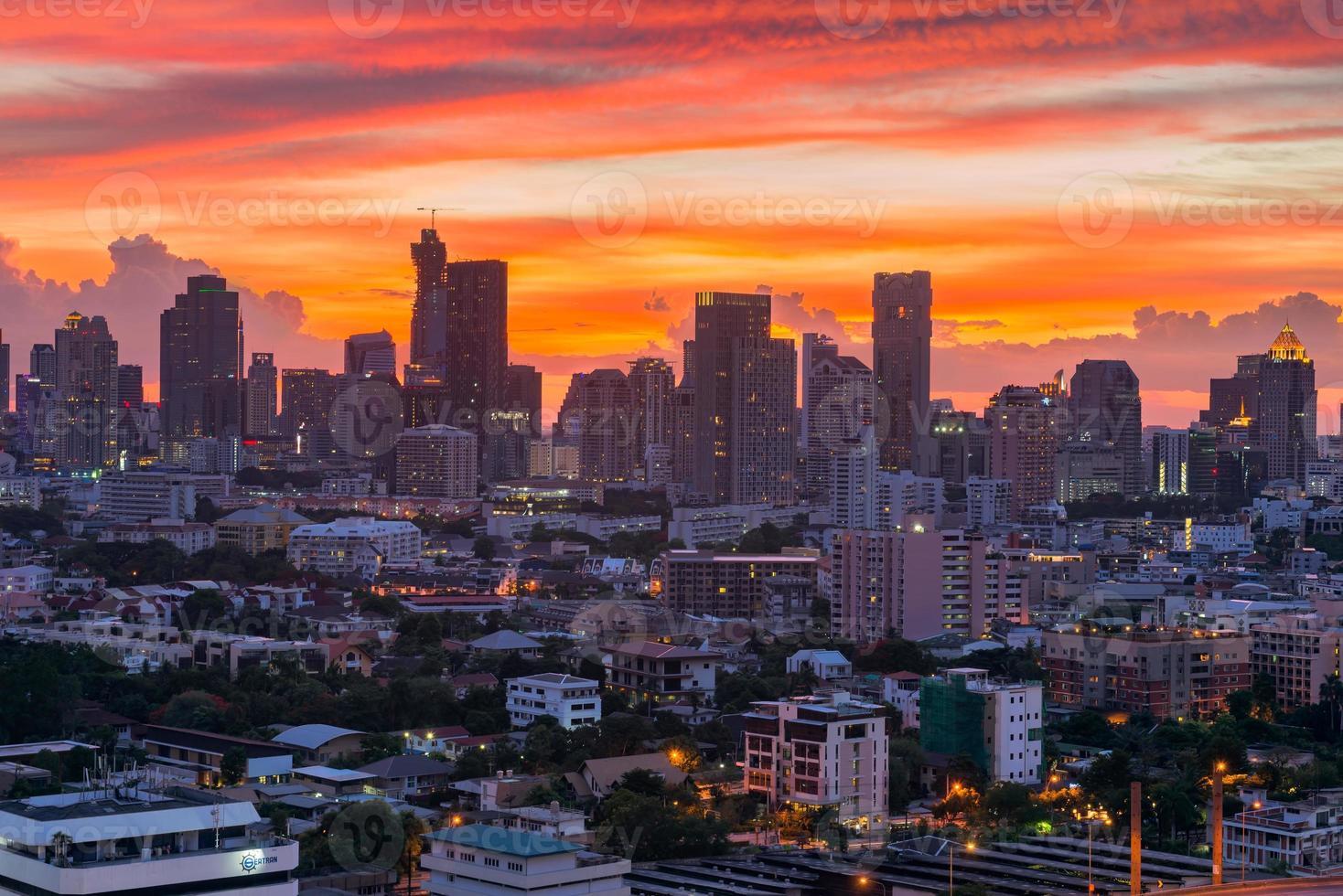 Wolkenkratzer Bangkok Stadt Thailand foto