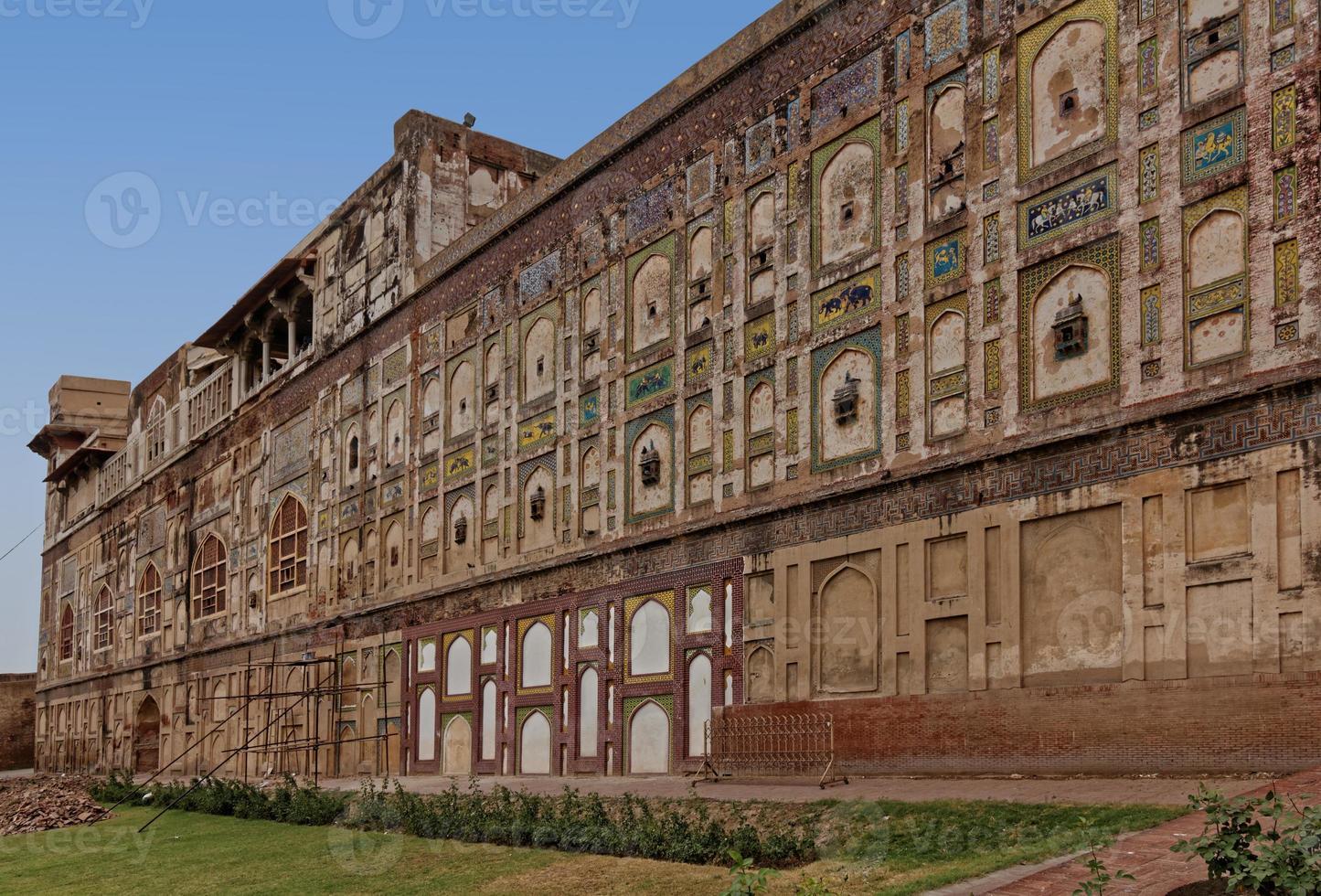 Außenmauern von Lahore Fort foto