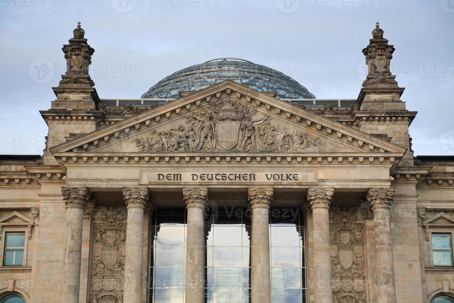 Reichstagskuppel, Berlin, Deutschland foto