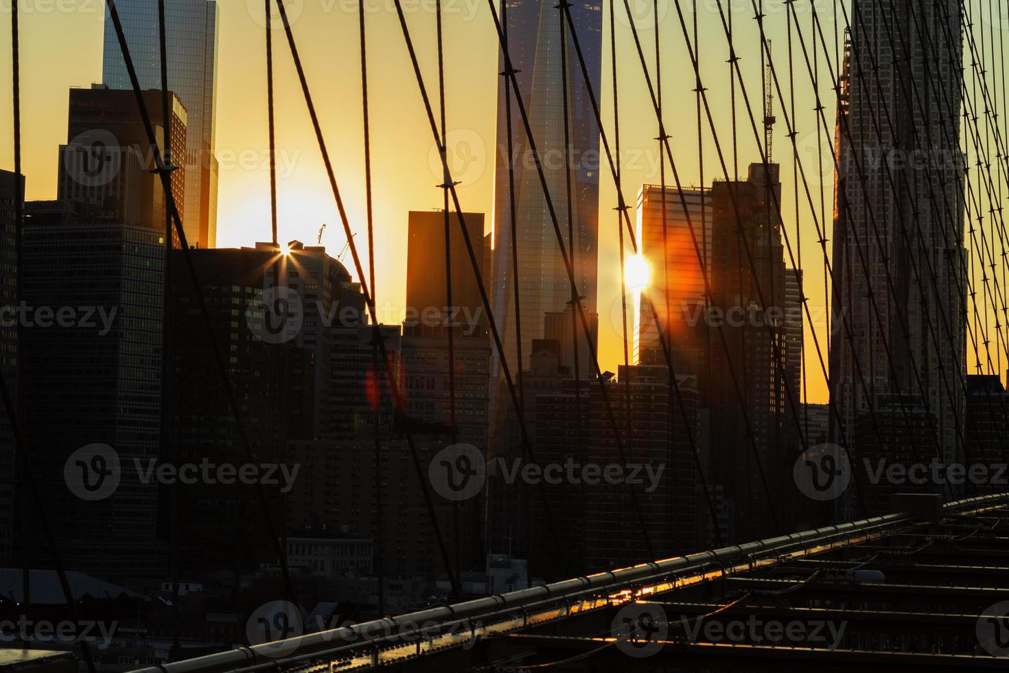 New York City bei Sonnenuntergang. foto