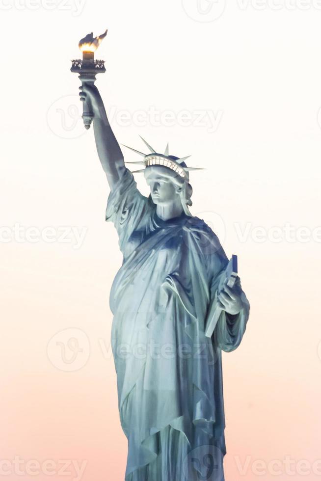Freiheitsstatue in New York City foto