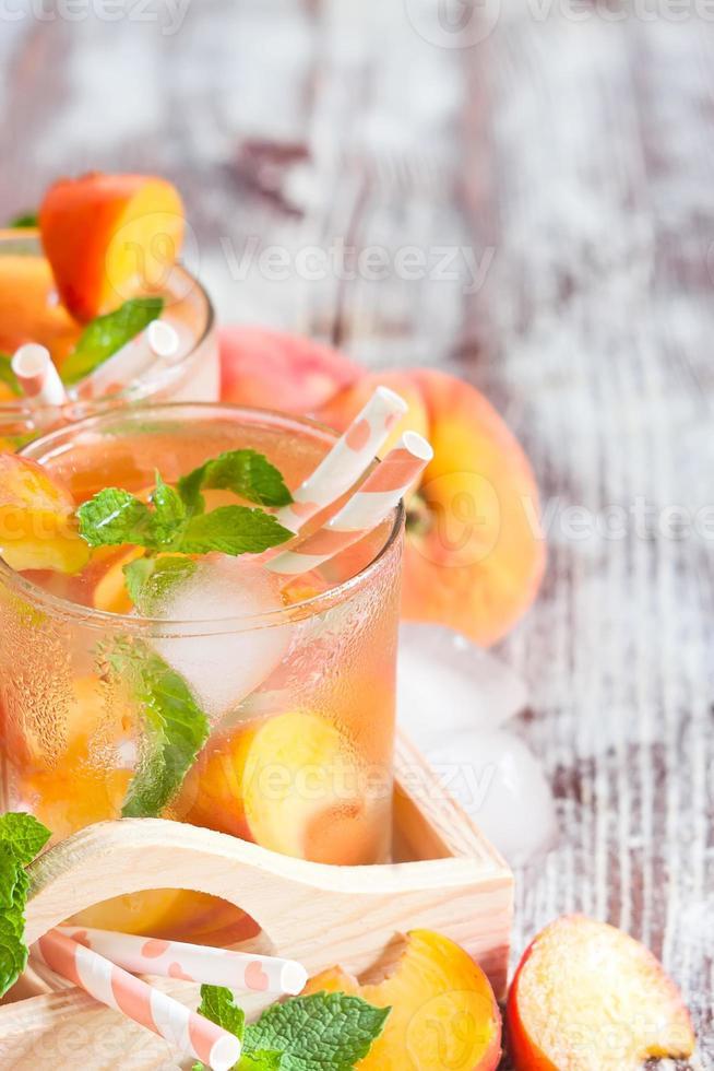 Pfirsich Limonade Hintergrund foto