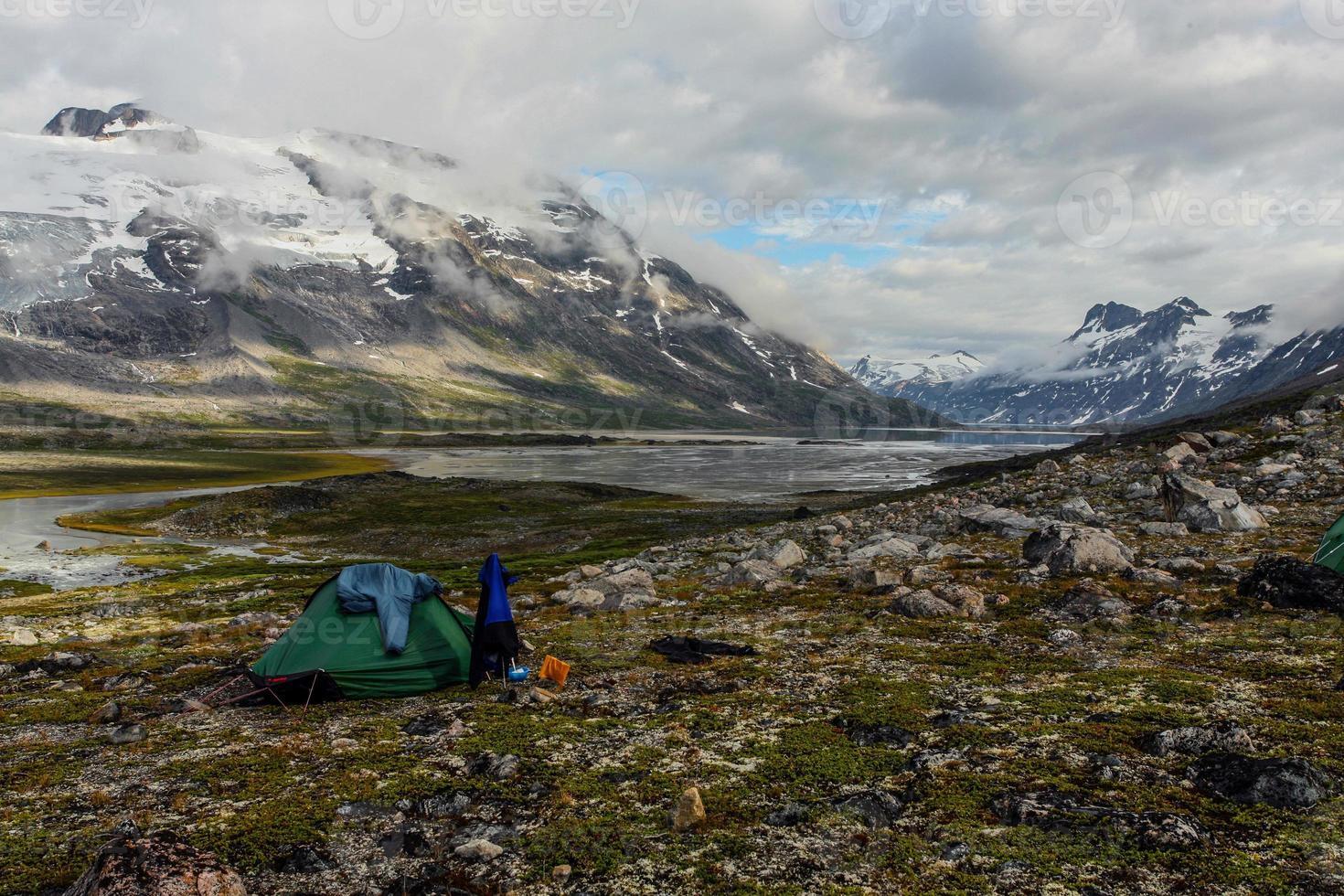Camping in Grönland foto