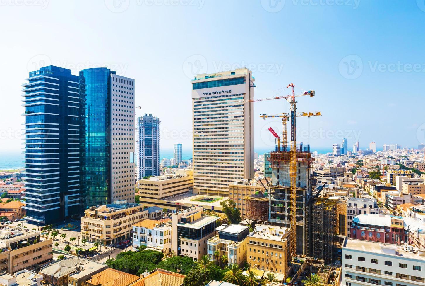 Panorama der Stadt Tel Aviv Straßen foto