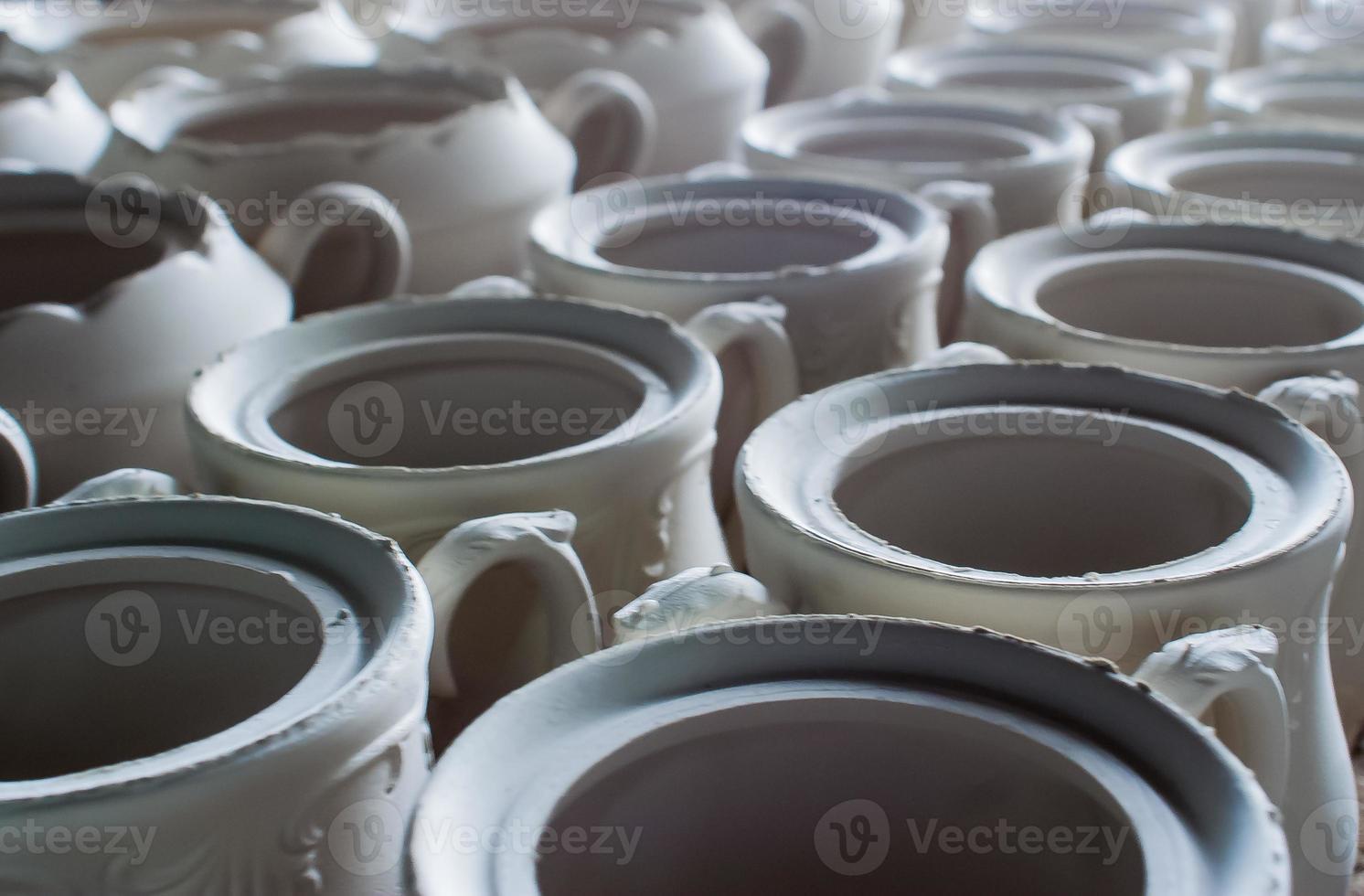 Porzellanfabrikgefäße foto