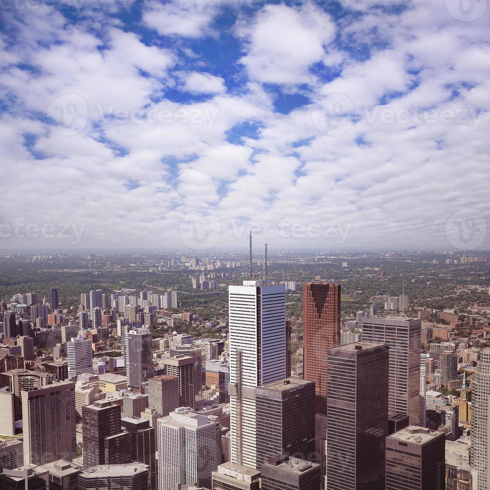 Blick auf das Stadtzentrum von Toronto. foto