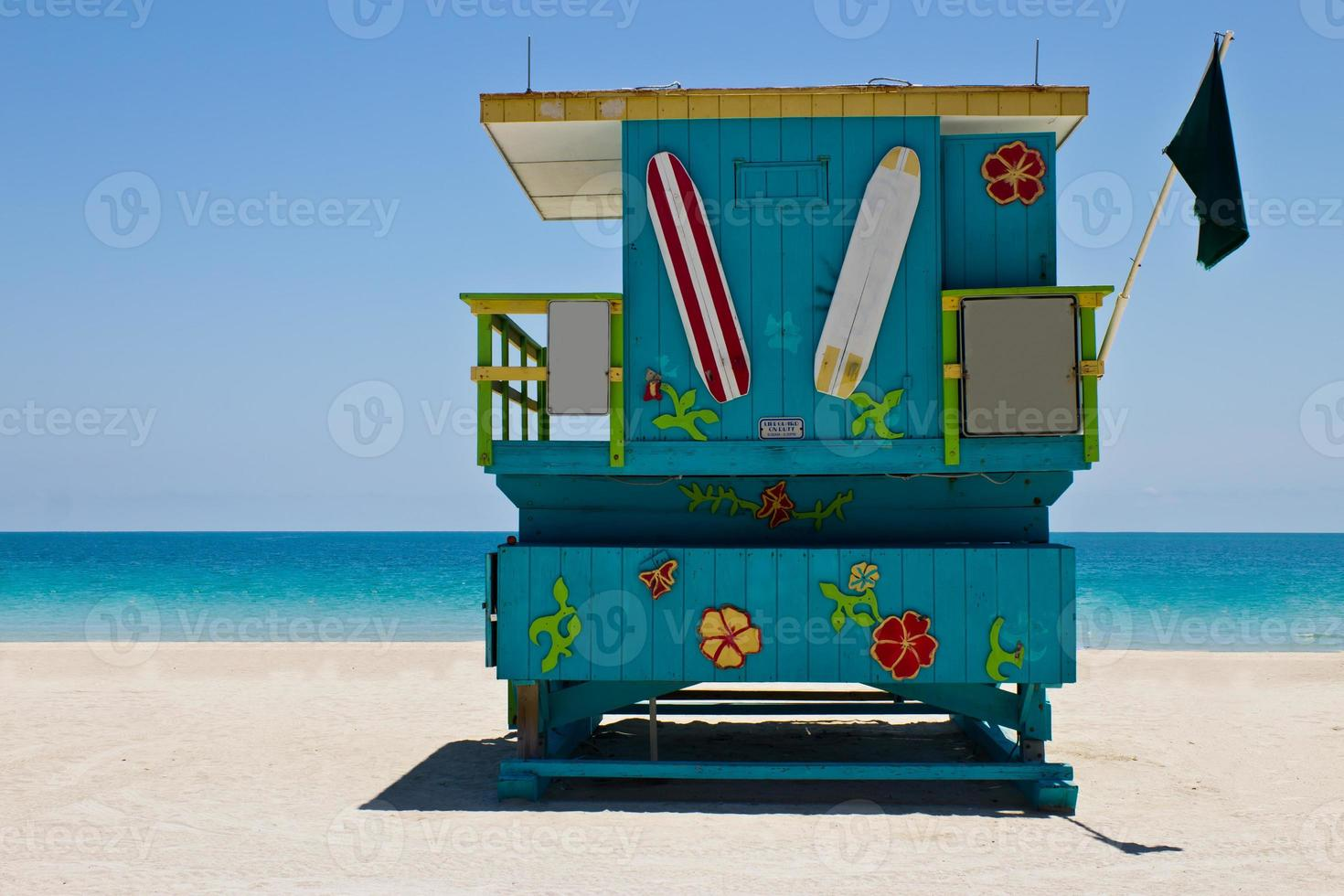 South Beach Rettungsschwimmerhütte in Miami, Florida foto