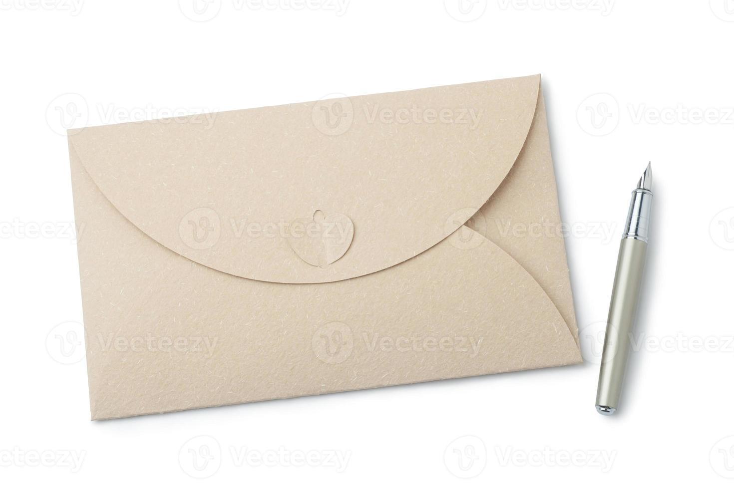 Umschlag und Füllfederhalter foto