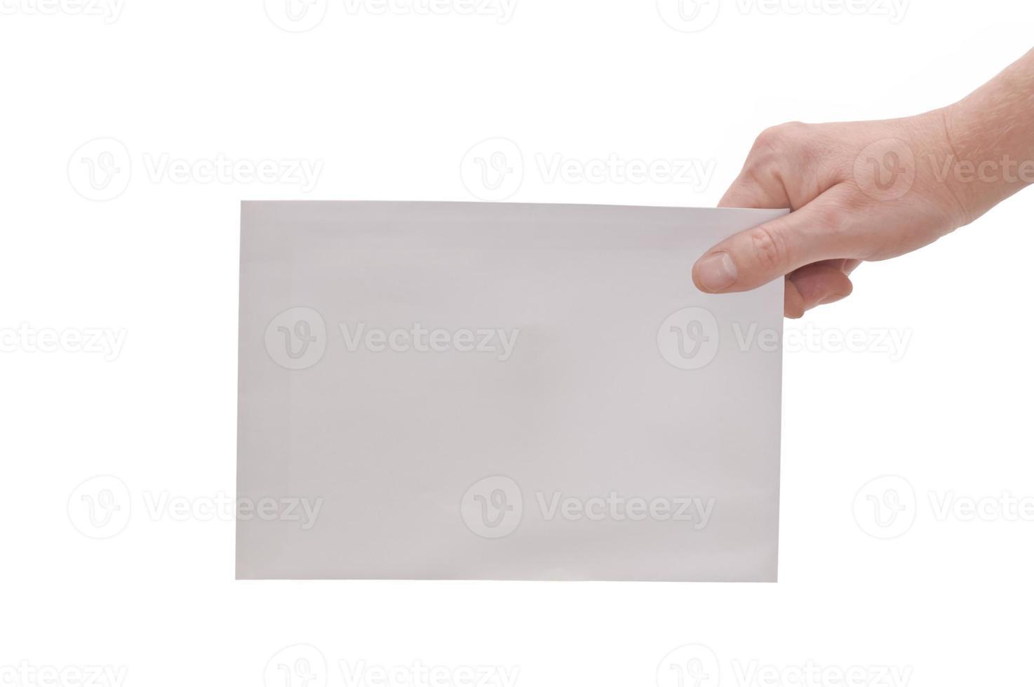 Hand & großer Umschlag foto